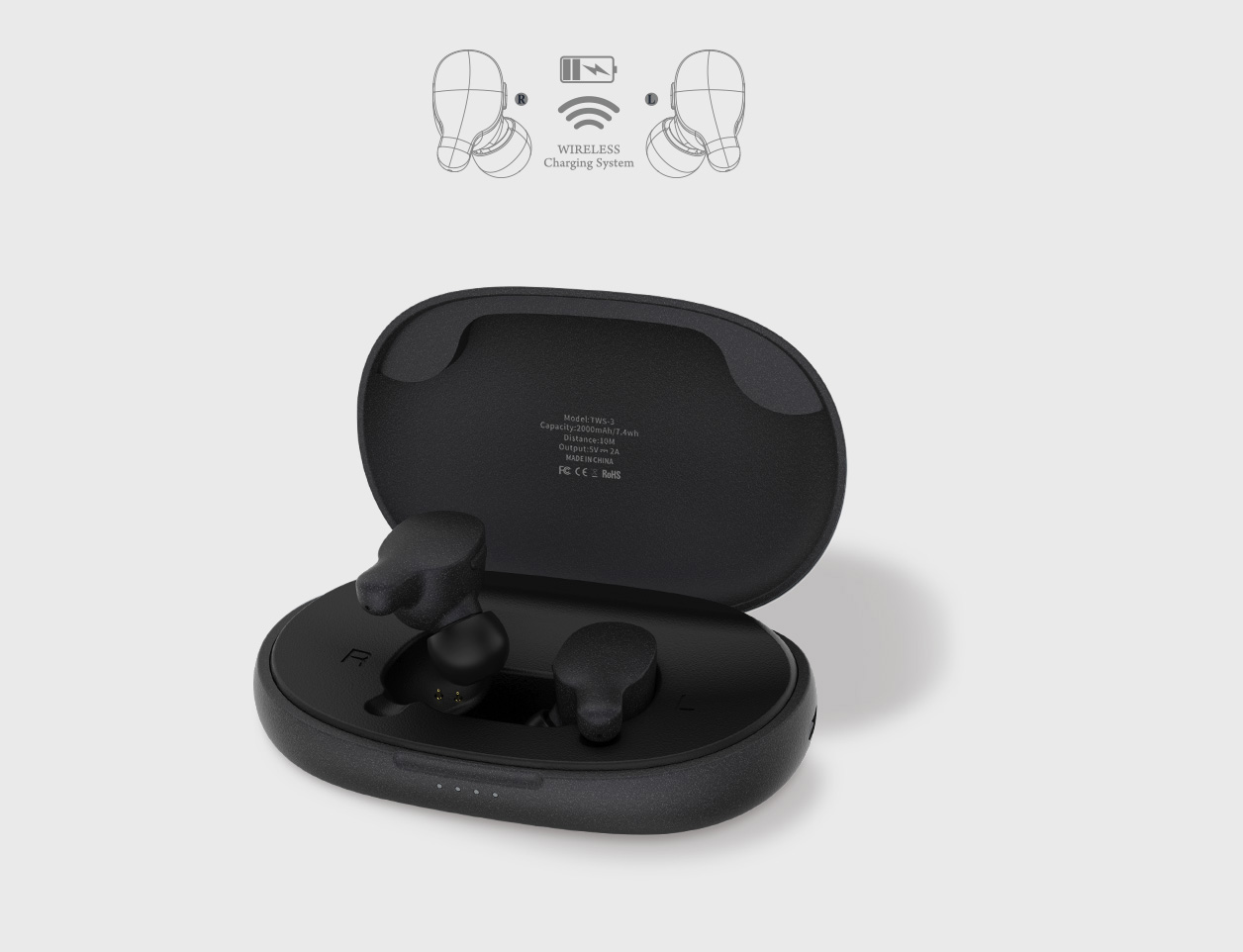 Tai nghe Bluetooth True Wireless Remax TWS-3