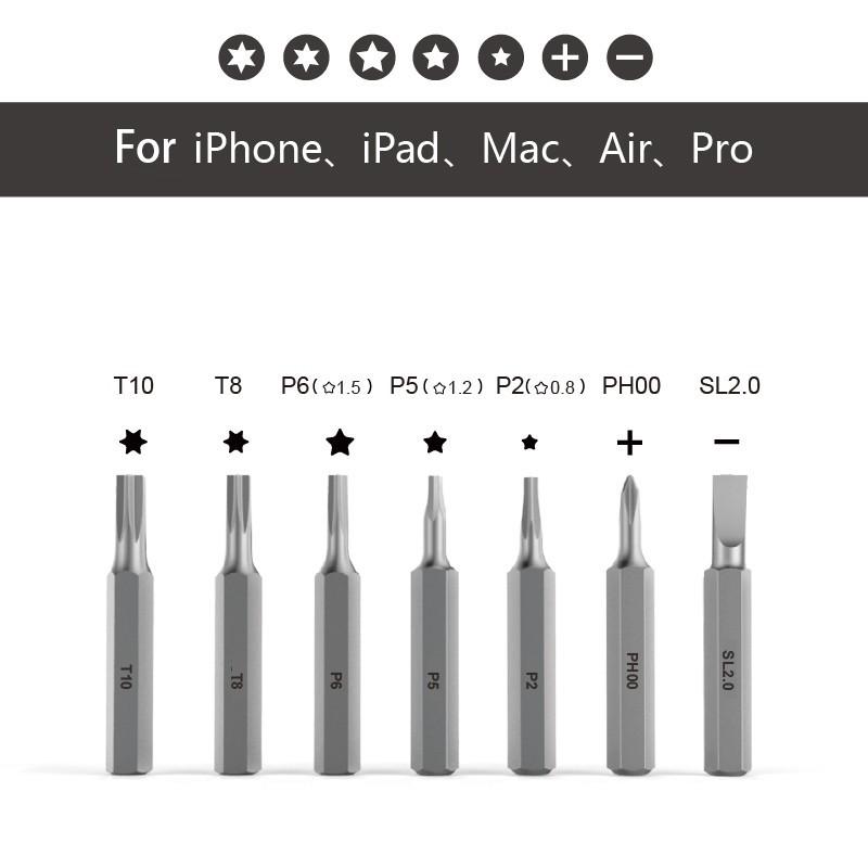 Bộ 7 đầu vít Wowbits dành cho thiết bị Apple